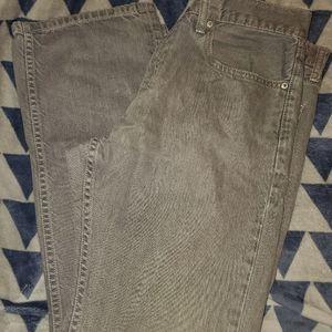 Levi straight leg gray jeans